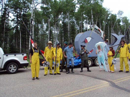 An Elk Ridge float at the Waskesiu Canada Day Parade